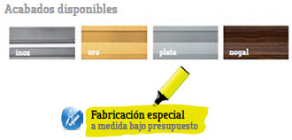 Colores disponibles - Fabricacion especial disponible